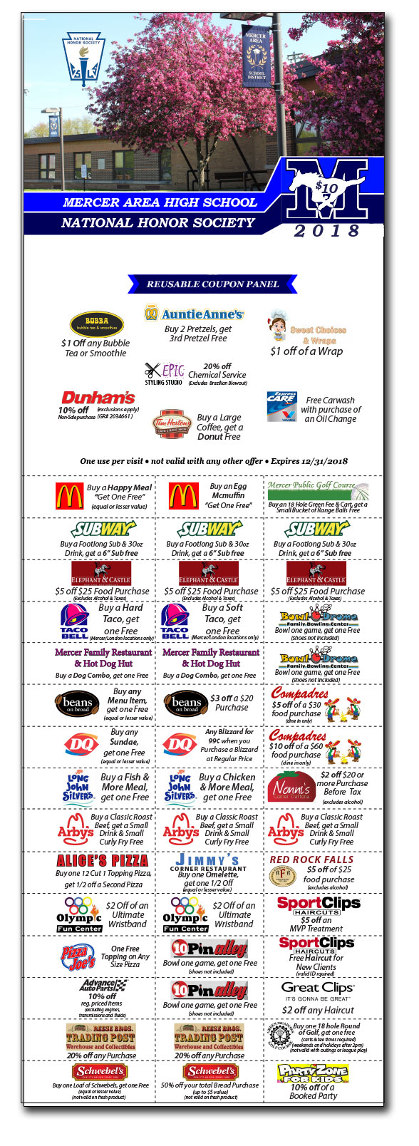 coupon booklet for fundraising in Mercer County PA