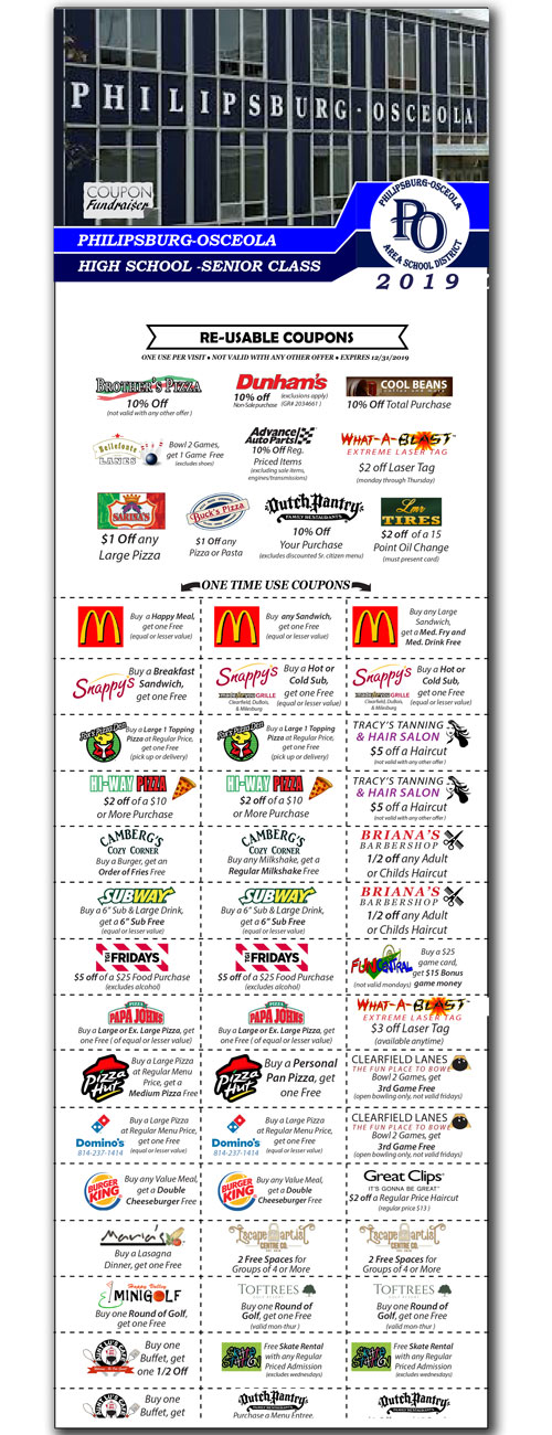 coupon booklet for fundraising in philipsburg PA